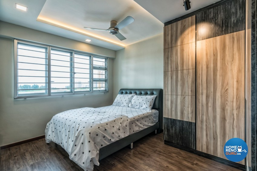Industrial Design - Bedroom - HDB 3 Room - Design by U-Home Interior Design Pte Ltd