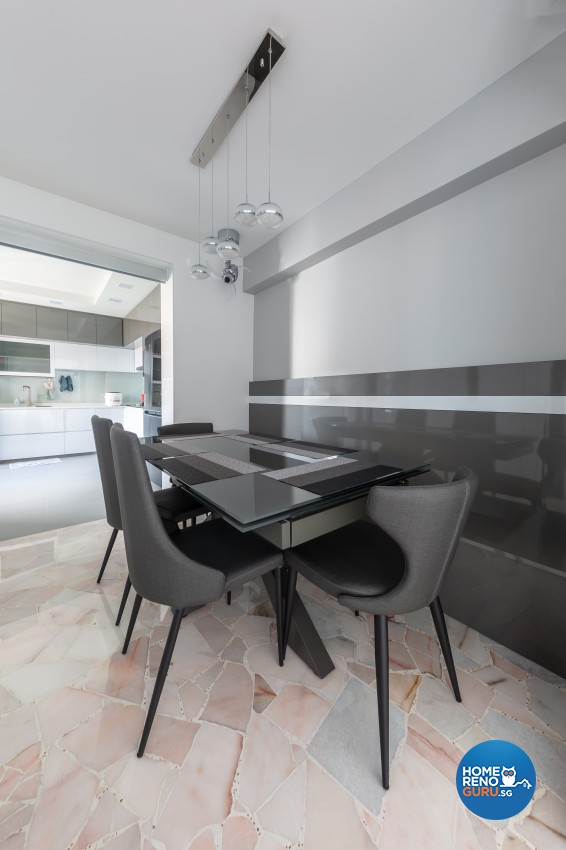 Design - Dining Room - HDB 4 Room - Design by U-Home Interior Design Pte Ltd