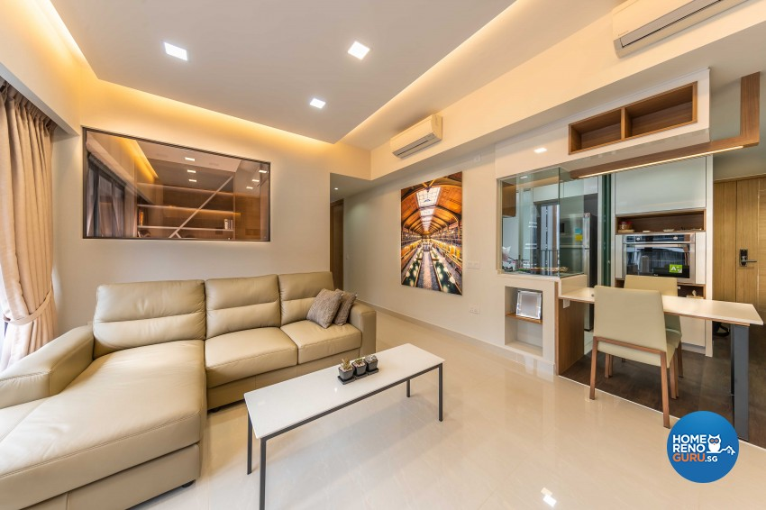 Modern Design - Living Room - Condominium - Design by U-Home Interior Design Pte Ltd