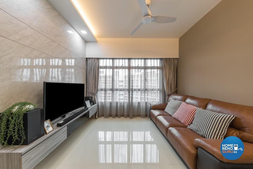 Scandinavian Design - Living Room -  - Design by U-Home Interior Design Pte Ltd