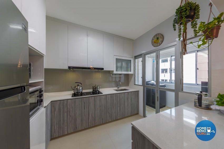 Scandinavian Design - Kitchen -  - Design by U-Home Interior Design Pte Ltd