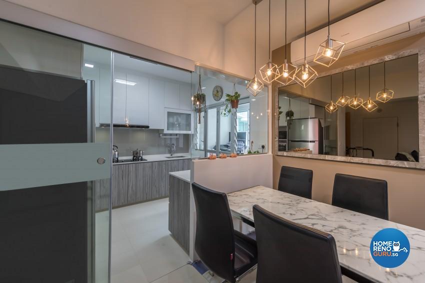 Scandinavian Design - Dining Room -  - Design by U-Home Interior Design Pte Ltd