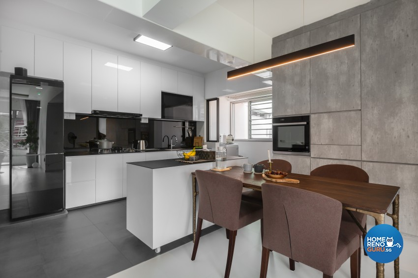 Modern Design - Dining Room - HDB 5 Room - Design by U-Home Interior Design Pte Ltd