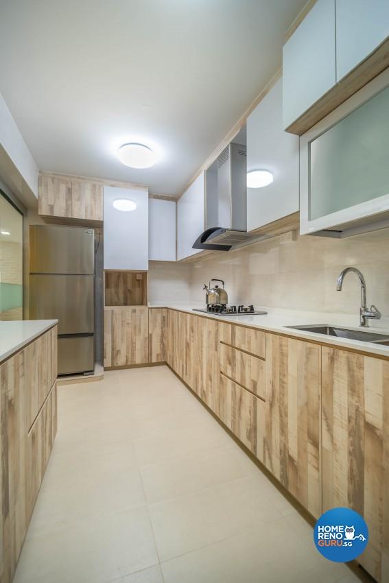 Design - Kitchen - HDB 4 Room - Design by U-Home Interior Design Pte Ltd