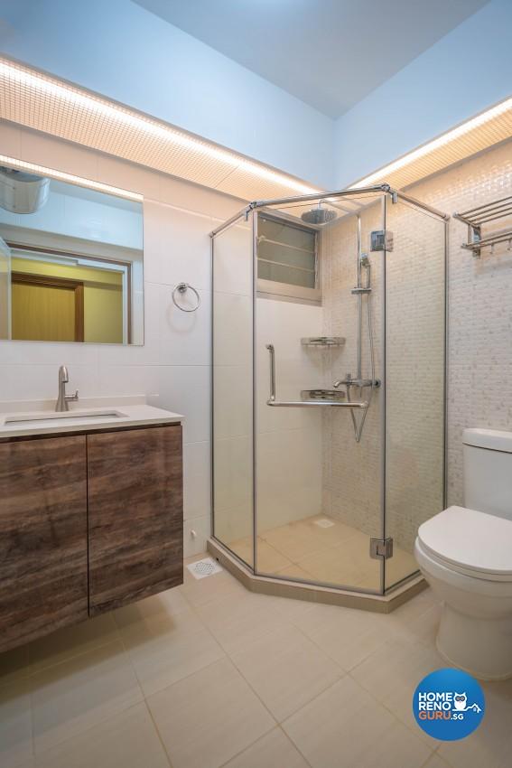 Design - Bathroom - HDB 4 Room - Design by U-Home Interior Design Pte Ltd