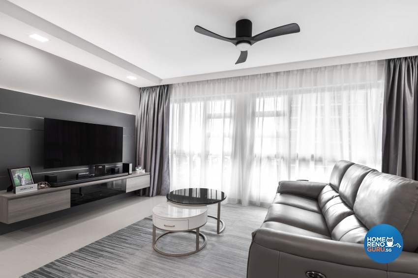 Modern Design - Living Room - HDB 5 Room - Design by U-Home Interior Design Pte Ltd