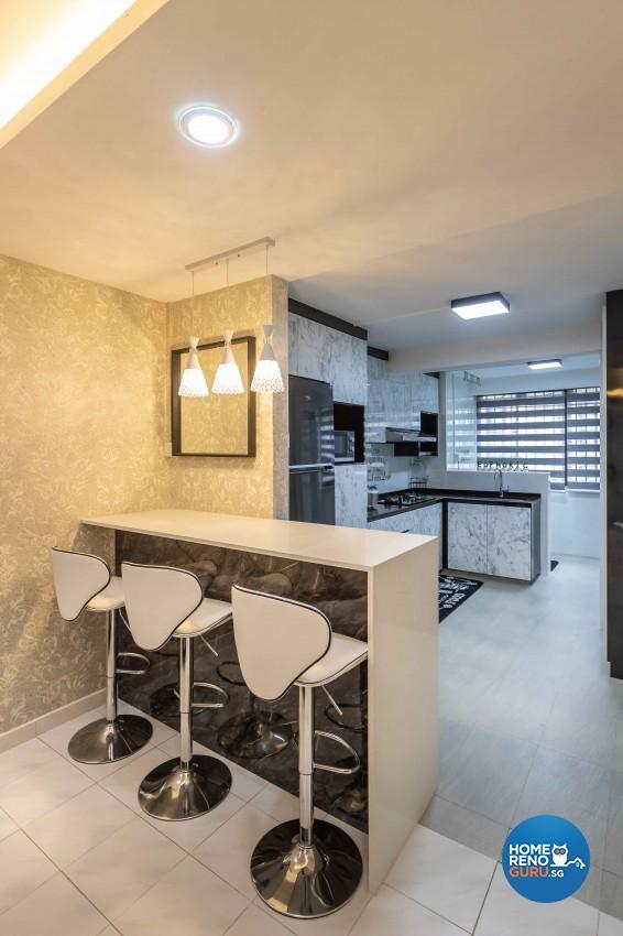 Modern Design - Dining Room - HDB 3 Room - Design by U-Home Interior Design Pte Ltd