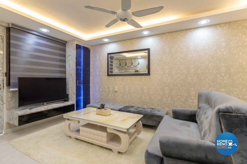 Modern Design - Living Room - HDB 3 Room - Design by U-Home Interior Design Pte Ltd