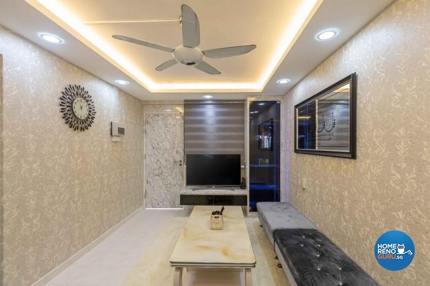 Modern Design - Living Room - HDB 3 Room - Design by U-Home Interior Design Pte Ltd