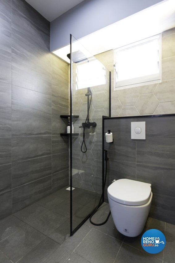 Contemporary Design - Bathroom - HDB 4 Room - Design by U-Home Interior Design Pte Ltd