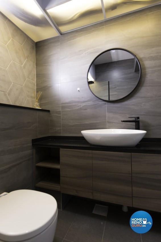 Contemporary Design - Bathroom - HDB 4 Room - Design by U-Home Interior Design Pte Ltd