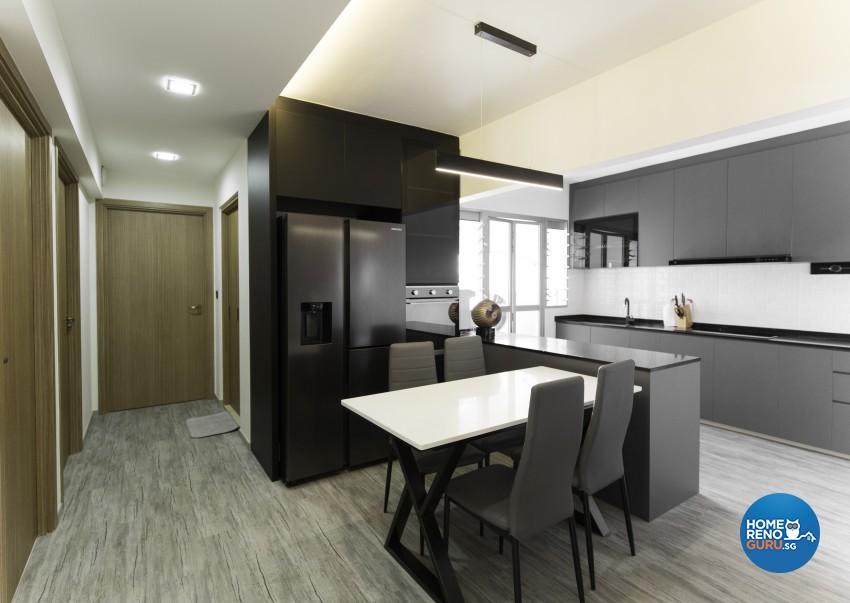 Contemporary Design - Dining Room - HDB 4 Room - Design by U-Home Interior Design Pte Ltd