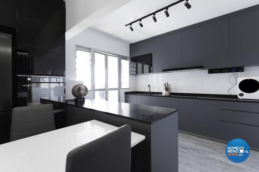 Contemporary Design - Kitchen - HDB 4 Room - Design by U-Home Interior Design Pte Ltd