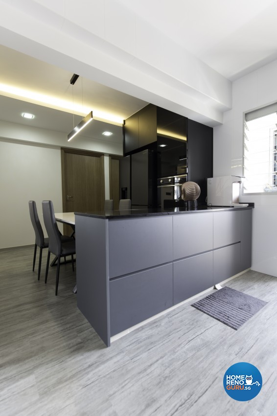 Contemporary Design - Dining Room - HDB 4 Room - Design by U-Home Interior Design Pte Ltd