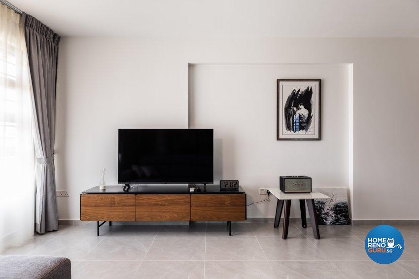 Contemporary, Industrial Design - Living Room - HDB 5 Room - Design by U-Home Interior Design Pte Ltd