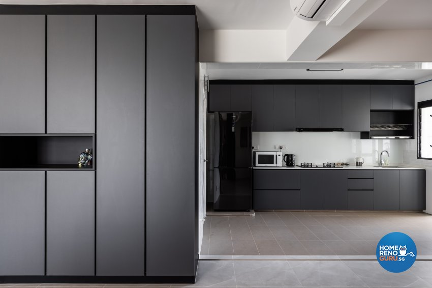 Contemporary, Industrial Design - Kitchen - HDB 5 Room - Design by U-Home Interior Design Pte Ltd