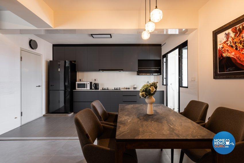 Contemporary, Industrial Design - Dining Room - HDB 5 Room - Design by U-Home Interior Design Pte Ltd