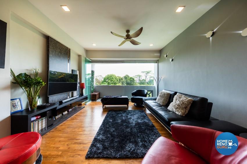 Rustic Design - Living Room - Condominium - Design by U-Home Interior Design Pte Ltd