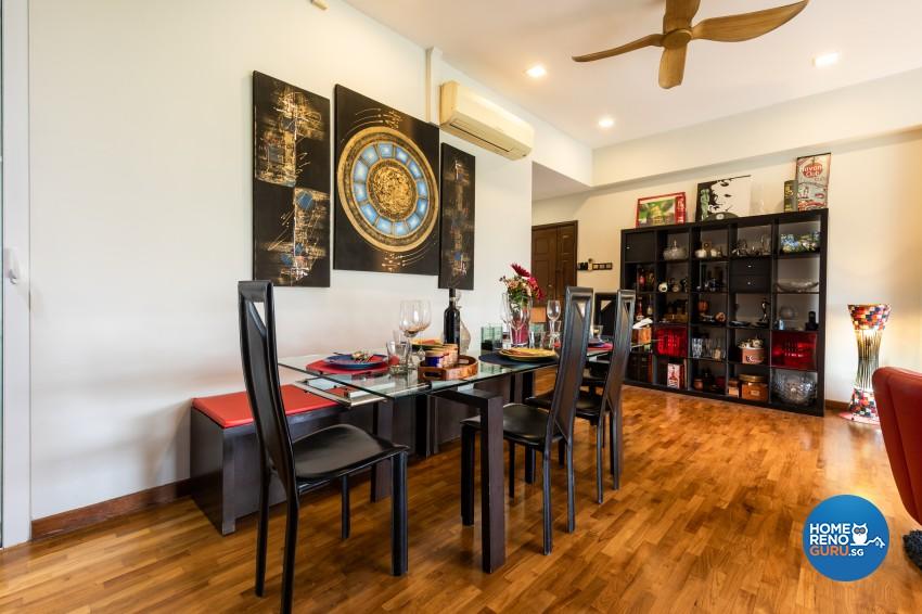 Rustic Design - Dining Room - Condominium - Design by U-Home Interior Design Pte Ltd