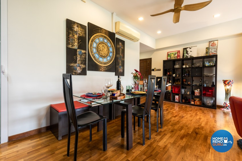 Rustic Design - Dining Room - Condominium - Design by U-Home Interior Design Pte Ltd