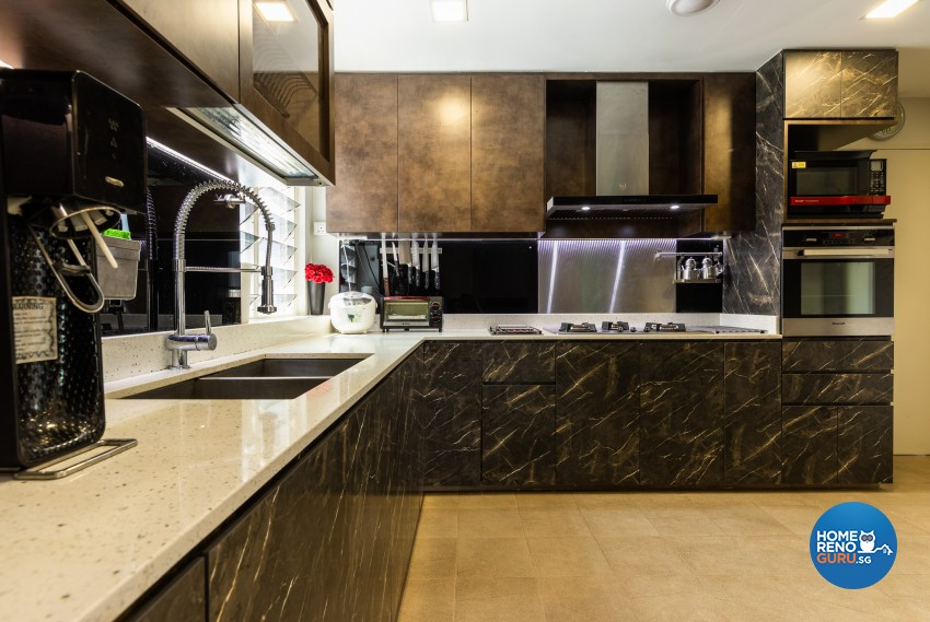 Rustic Design - Kitchen - Condominium - Design by U-Home Interior Design Pte Ltd