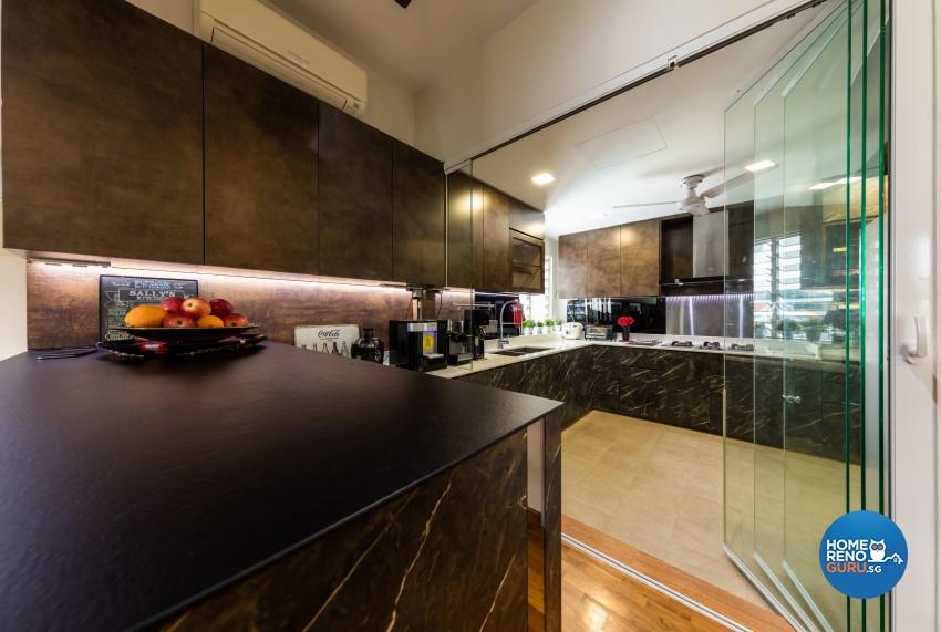 Rustic Design - Kitchen - Condominium - Design by U-Home Interior Design Pte Ltd