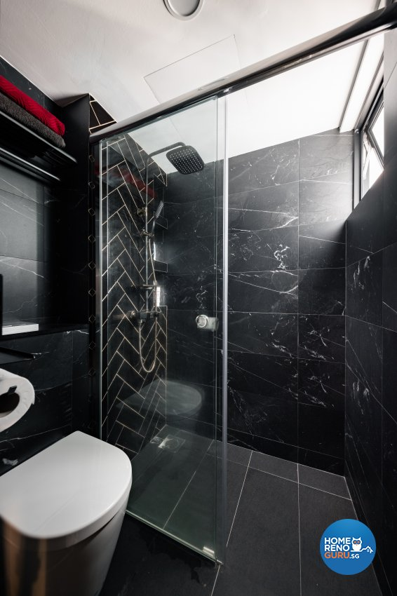 Industrial, Modern Design - Bathroom - HDB 4 Room - Design by U-Home Interior Design Pte Ltd