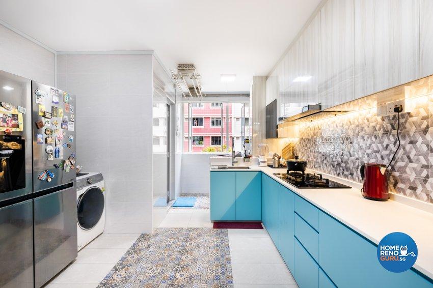 Modern Design - Kitchen - HDB 5 Room - Design by U-Home Interior Design Pte Ltd