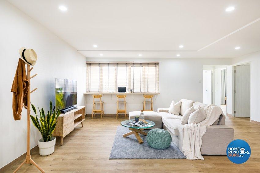 Minimalist Design - Living Room - HDB 5 Room - Design by U-Home Interior Design Pte Ltd