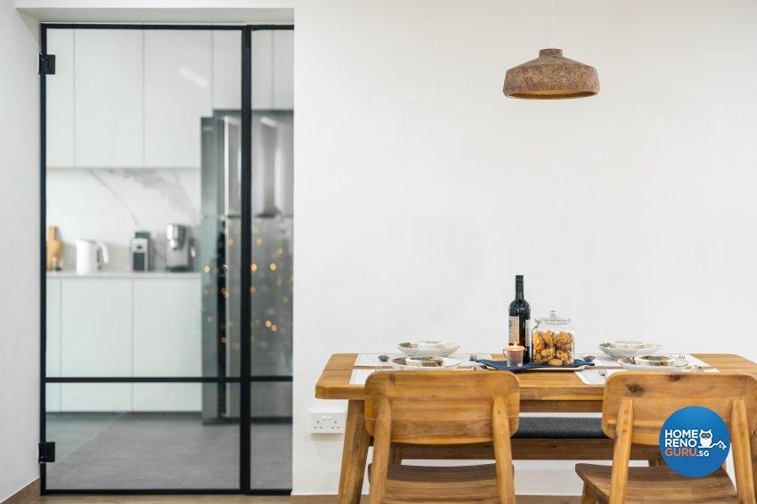 Minimalist Design - Dining Room - HDB 5 Room - Design by U-Home Interior Design Pte Ltd