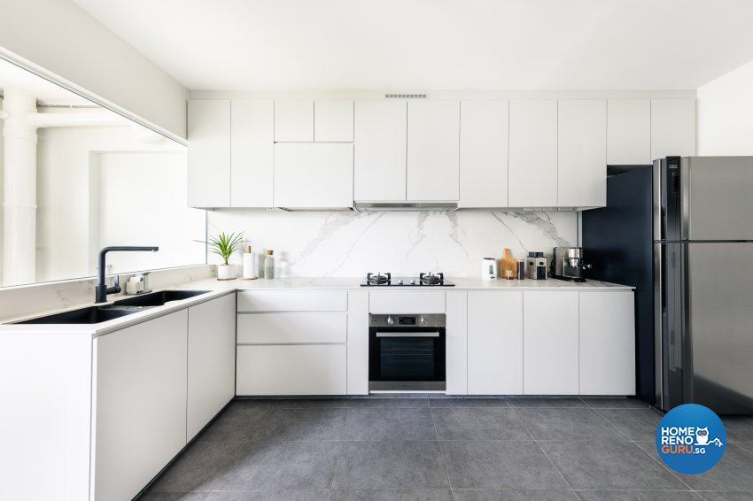 Minimalist Design - Kitchen - HDB 5 Room - Design by U-Home Interior Design Pte Ltd