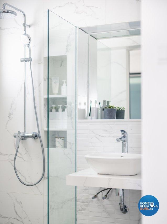 Minimalist Design - Bathroom - HDB 5 Room - Design by U-Home Interior Design Pte Ltd