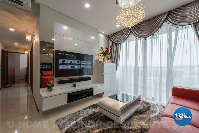 U home interior design pte ltd condo 3 bedded one canberra 3938 singapore interior design for U home interior design pte ltd