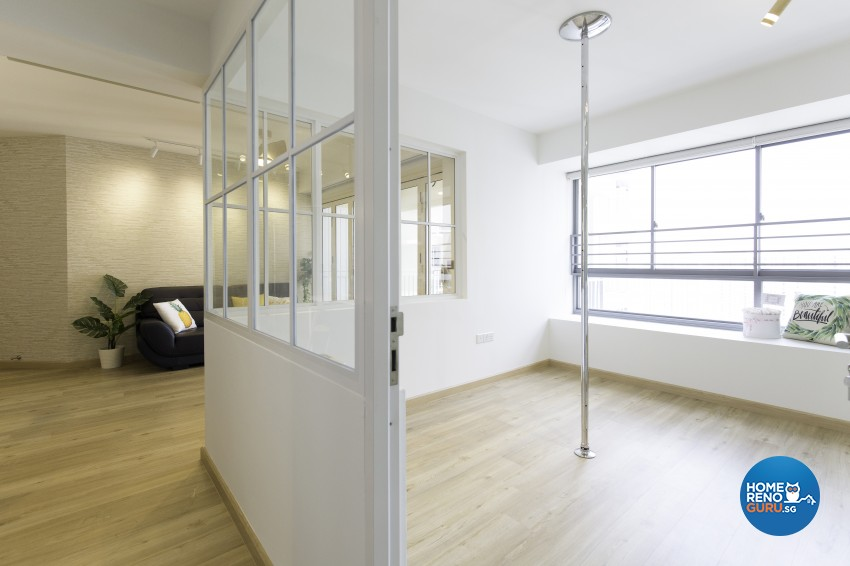 Modern, Scandinavian Design - Entertainment Room - HDB 5 Room - Design by U-Home Interior Design Pte Ltd
