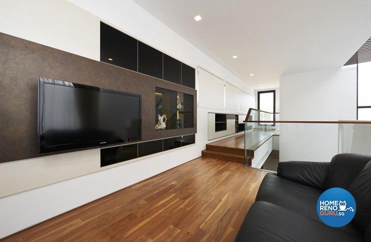 Contemporary, Modern, Scandinavian Design - Entertainment Room - Landed House - Design by U-Home Interior Design Pte Ltd