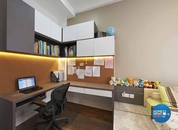 Contemporary, Modern, Scandinavian Design - Study Room - Landed House - Design by U-Home Interior Design Pte Ltd