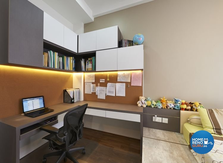 Contemporary, Modern, Scandinavian Design - Study Room - Landed House - Design by U-Home Interior Design Pte Ltd