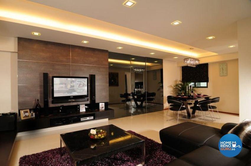 Contemporary, Retro, Resort Design - Living Room - HDB 5 Room - Design by U-Home Interior Design Pte Ltd