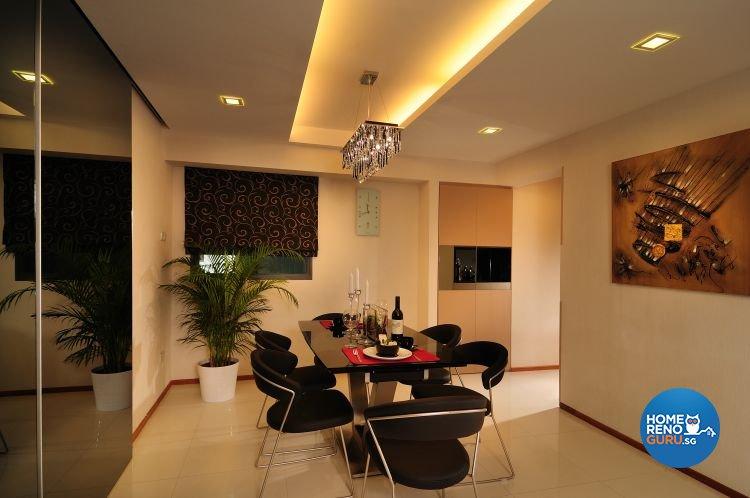 Contemporary, Retro, Resort Design - Dining Room - HDB 5 Room - Design by U-Home Interior Design Pte Ltd