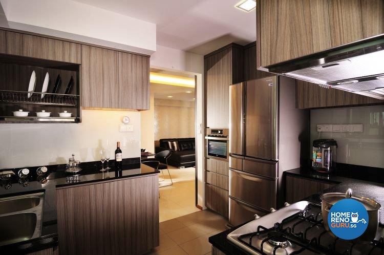 Contemporary, Retro, Resort Design - Kitchen - HDB 5 Room - Design by U-Home Interior Design Pte Ltd