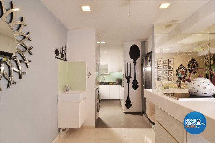 Classical, Country Design - Kitchen - HDB Executive Apartment - Design by U-Home Interior Design Pte Ltd