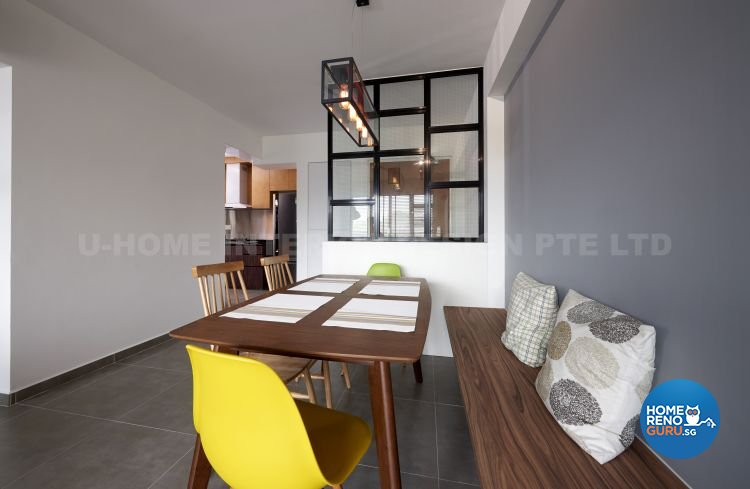 Contemporary, Modern, Scandinavian Design - Dining Room - HDB 4 Room - Design by U-Home Interior Design Pte Ltd