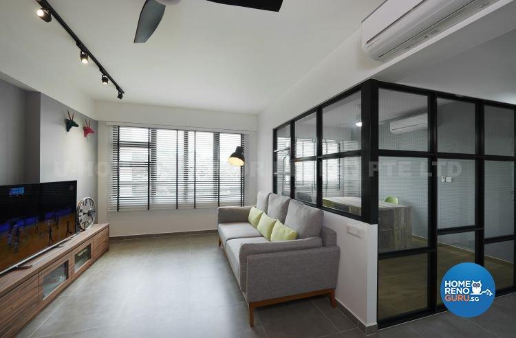 Contemporary, Modern, Scandinavian Design - Living Room - HDB 4 Room - Design by U-Home Interior Design Pte Ltd