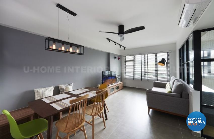 Contemporary, Modern, Scandinavian Design - Living Room - HDB 4 Room - Design by U-Home Interior Design Pte Ltd