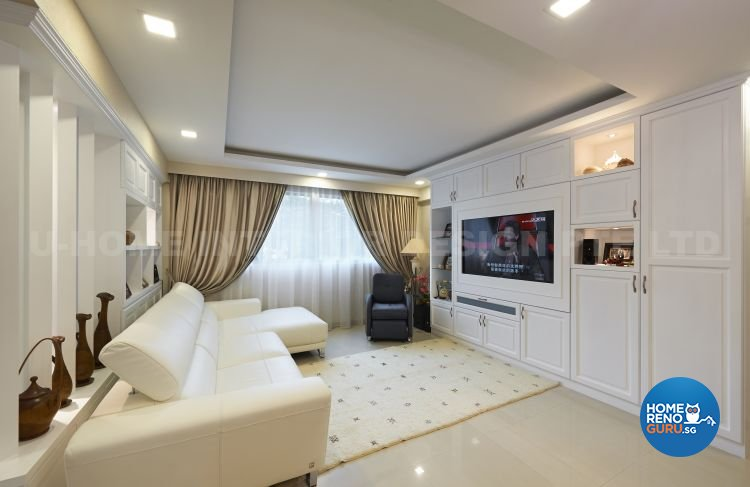 Minimalist, Modern Design - Living Room - HDB 5 Room - Design by U-Home Interior Design Pte Ltd