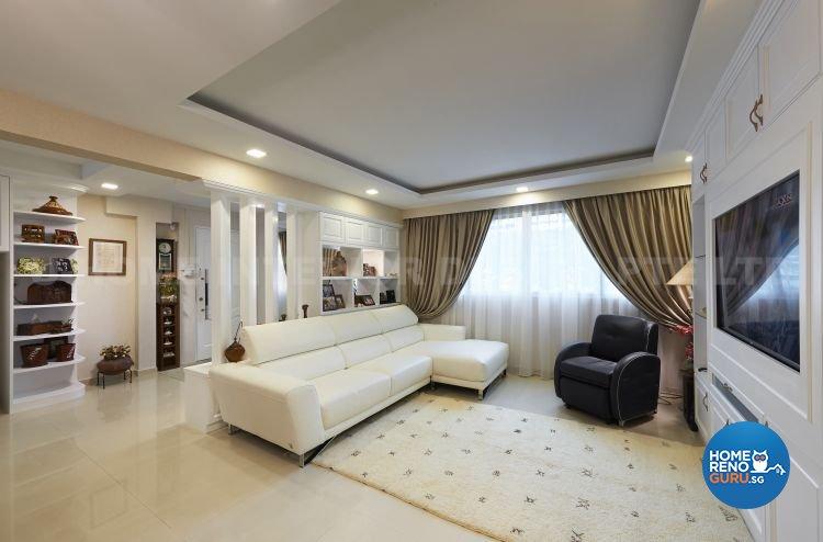 Minimalist, Modern Design - Living Room - HDB 5 Room - Design by U-Home Interior Design Pte Ltd