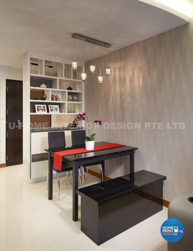 Contemporary, Modern Design - Dining Room - HDB 4 Room - Design by U-Home Interior Design Pte Ltd