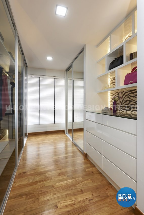Contemporary, Modern Design - Bedroom - HDB 4 Room - Design by U-Home Interior Design Pte Ltd