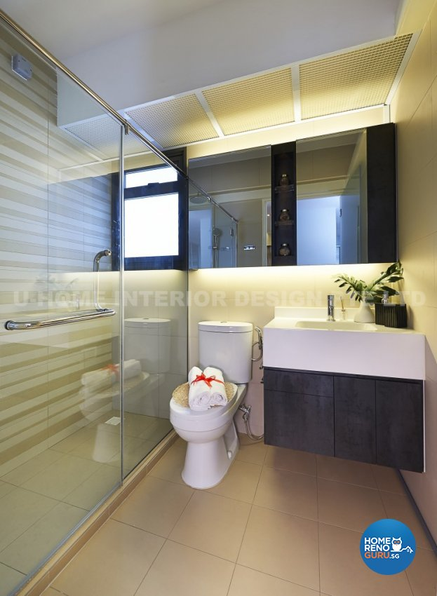 Contemporary, Modern Design - Bathroom - HDB 4 Room - Design by U-Home Interior Design Pte Ltd