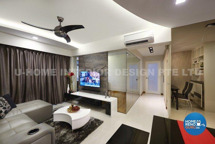 Contemporary, Modern Design - Living Room - HDB 4 Room - Design by U-Home Interior Design Pte Ltd